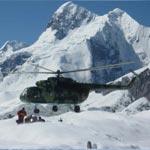 Полет на вертолете до БЛ Южный Иныльчек
