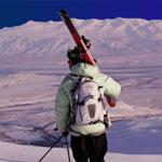 Катание на горных лыжах в Кыргызстане. Каракол