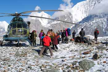 Trekking to the Khan Tengri BC. Fixed departure dates